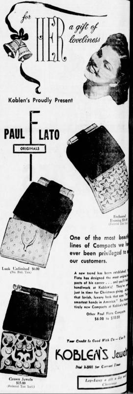 Paul Flato compact ad, November 1949