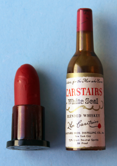 Carstairs miniature whiskey bottle lipstick