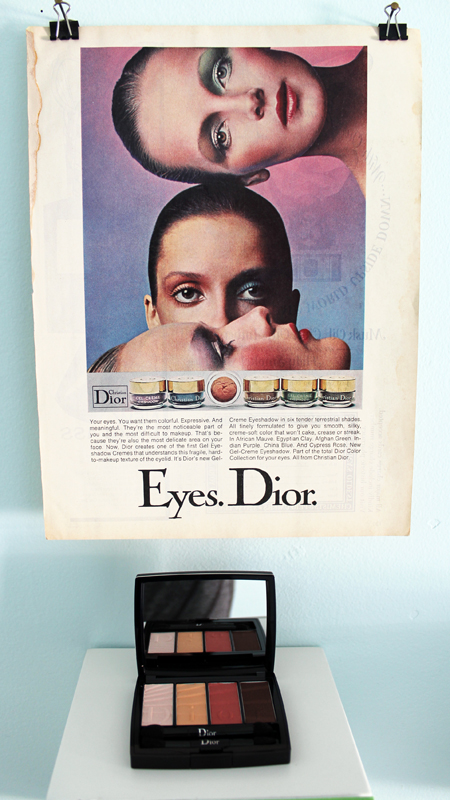Dior vintage ad and 2017 palette