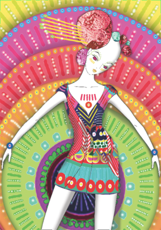 Przemek Sobocki illustration for Manish Arora, 2010