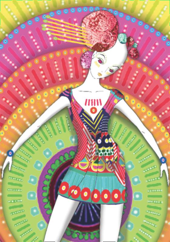 Przemek Sobocki illustration for Manish Arora, 2010