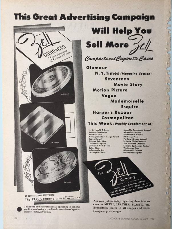 Zell compact ad 1946