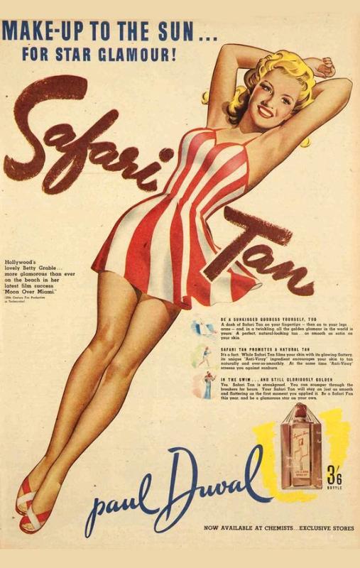 Ad for Paul Duval Safari Tan, 1941