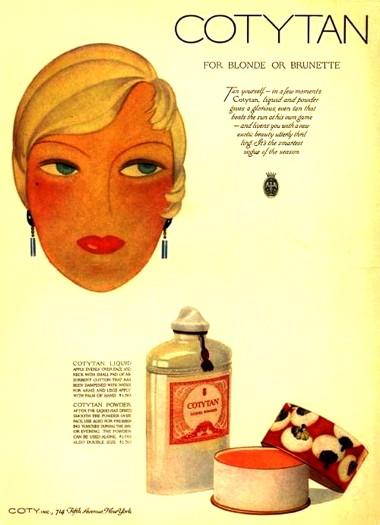 CotyTan ad, 1929