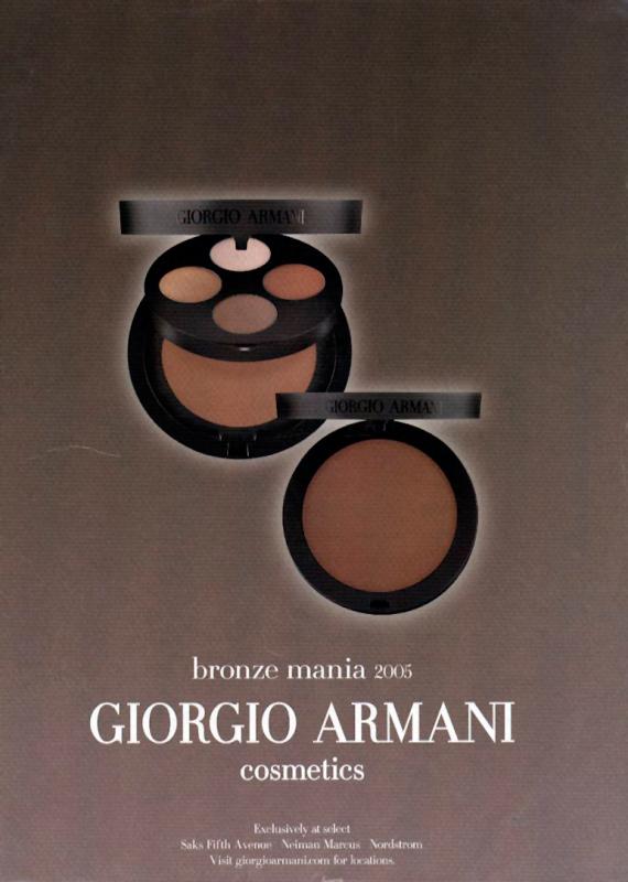 Armani Bronze Mania ad, 2005