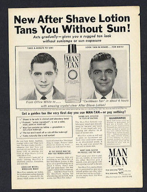 Man Tan ad, ca. late 1950s