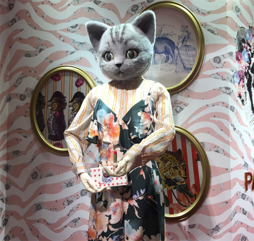 Paul & Joe Isetan circus event cat statue