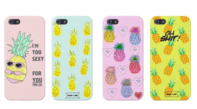 Poni Lab pineapple phone cases