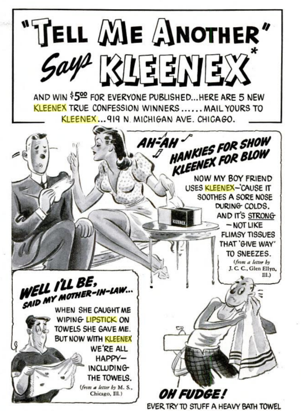 Kleenex True Confessions, October 1939