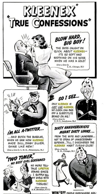 Kleenex True Confessions, September 1939