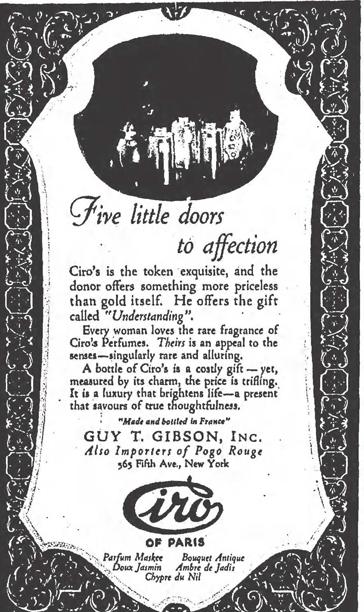 Parfums Ciro ad, 1924