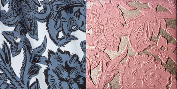 Burberry fall 2017 beast print and palette comparison