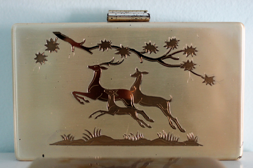 Elgin Woodland Fawn carry-all, ca. 1955