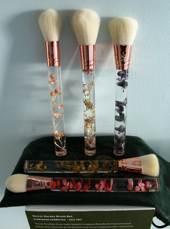 Storybook cosmetics brush set