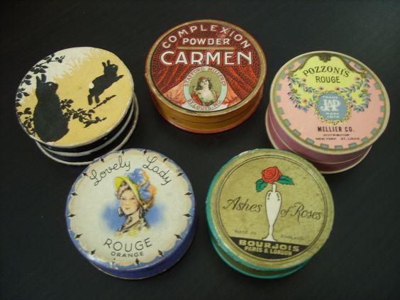 Vintage powder boxes