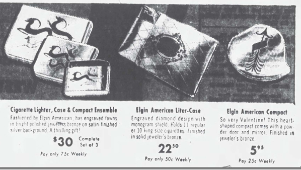 Elgin compact ad, February 1949