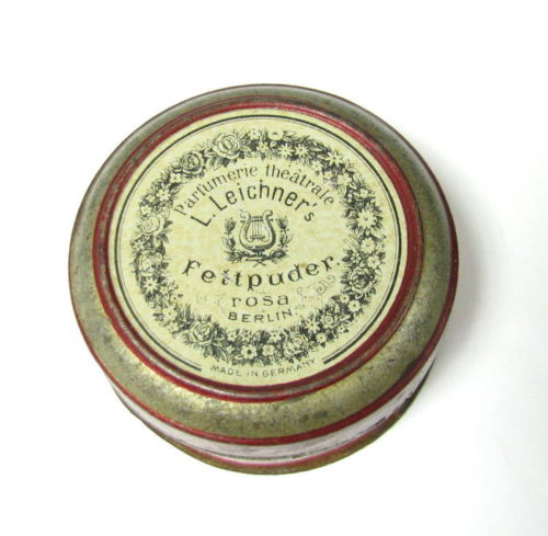 Leichner face powder box, early 1900s