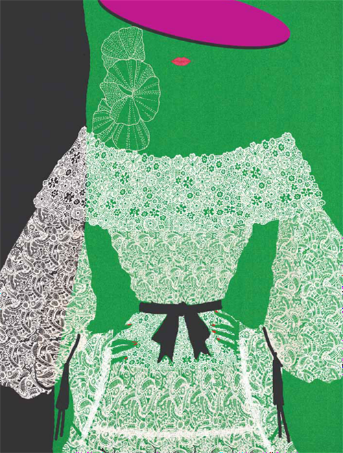 Hiroshi Tanabe - YSL illustration, spring 2016