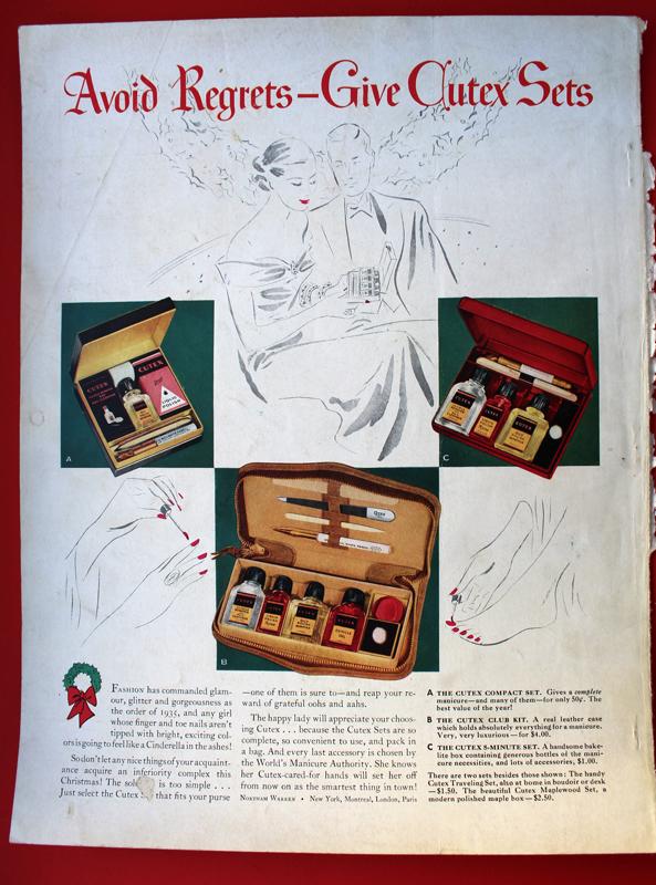Cutex ad, 1934