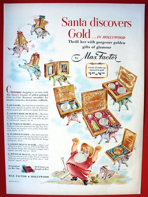 Max Factor ad, 1949