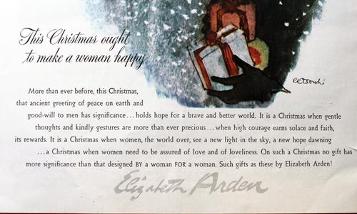 Elizabeth Arden ad, 1944 - detail