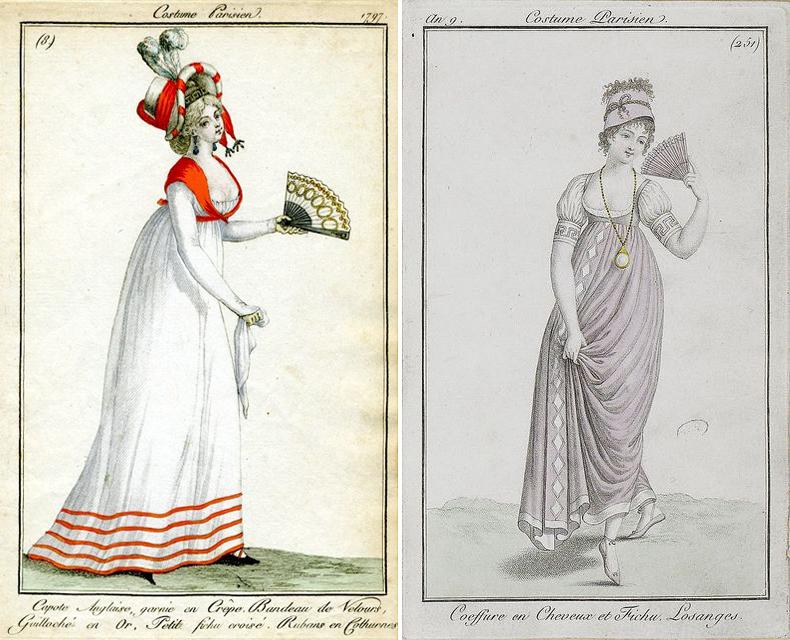 French fashion plates, ca. 1797-1800