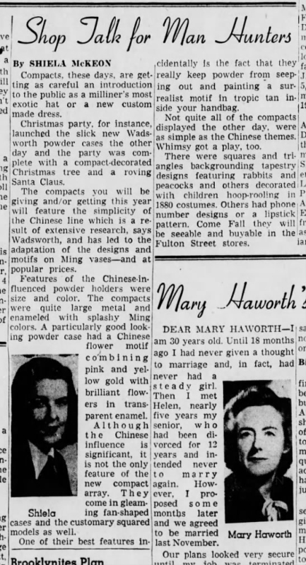 Wadsworth compacts article, July 1946
