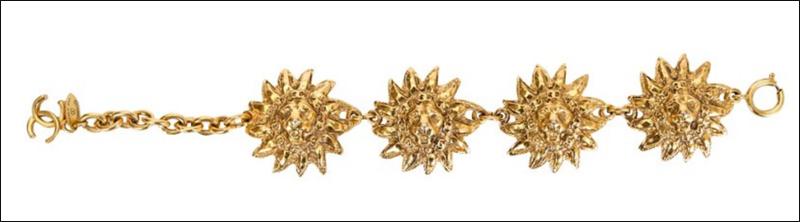 Chanel lion bracelet, 1980s