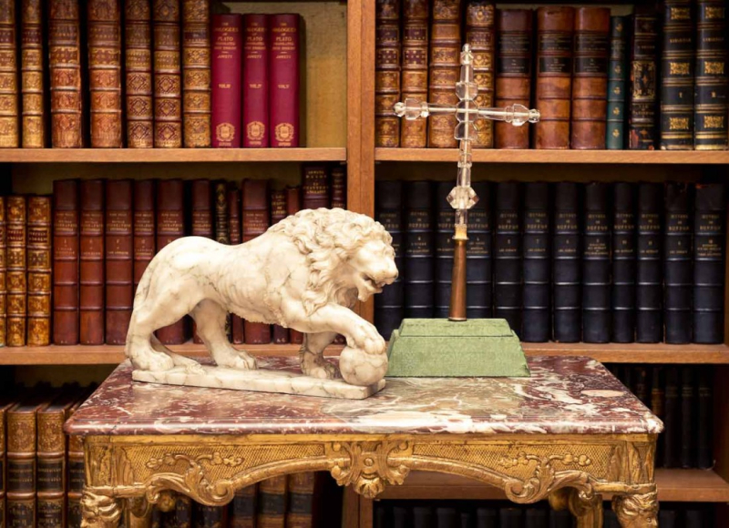 Lion statue in Coco Chanel's apartment