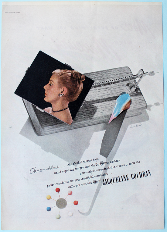 Jacqueline Cochran ad designed by Paul Rand, 1946