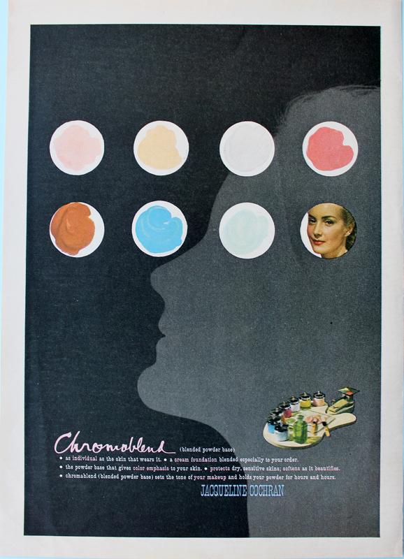 Jacqueline Cochran ad designed by Paul Rand