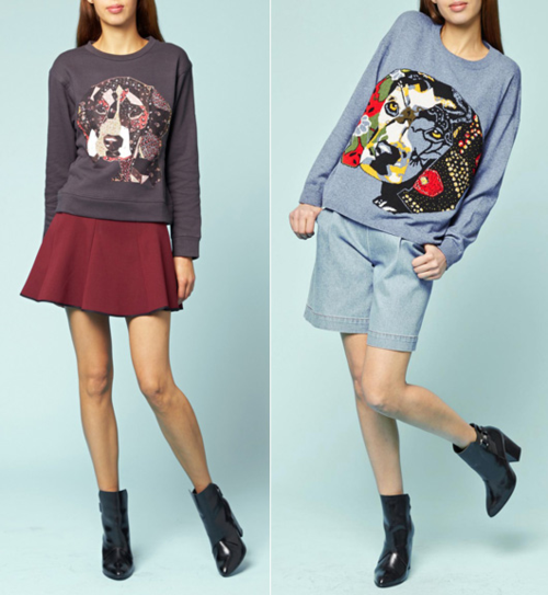 Paul & Joe fall 2014 dog sweatshirts