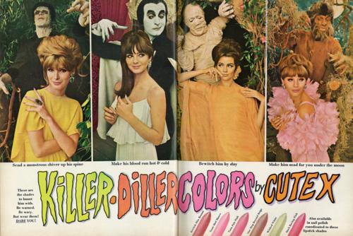 """Cutex """"Killer Diller Colors"""" ad, 1966"""