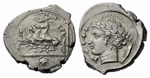 Ancient coin from Catania