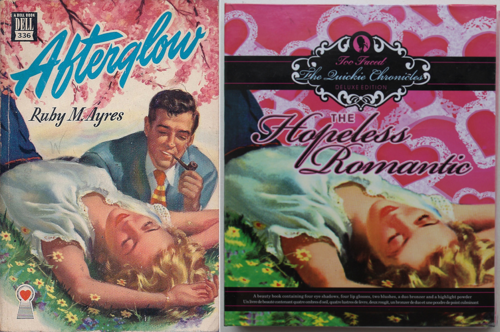 Afterglow pulp novel = Too-Faced Hopeless Romantic Quickie Chronicle palette