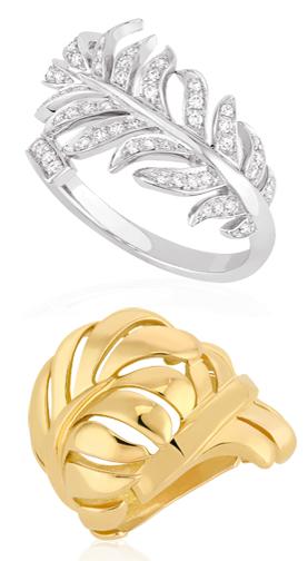 Chanel Plume rings