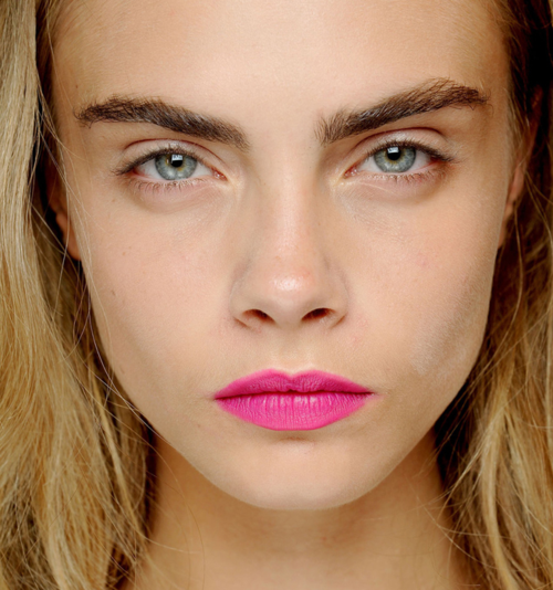 The British supermodel who inspired the brow craze, Cara Delevingne