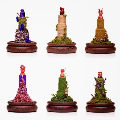 May Sum - floral lipstick sculptures