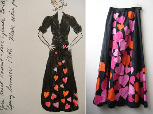 Vintage YSL maxi skirt