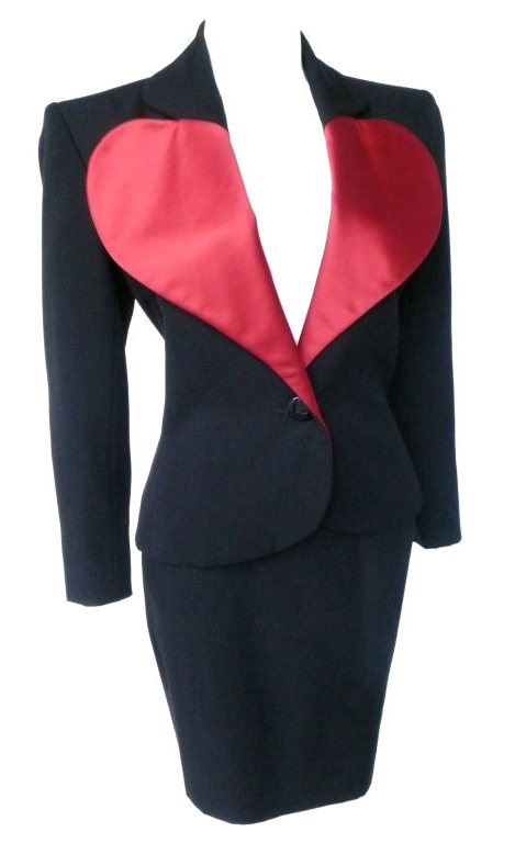 YSL Le Smoking heart suit, spring 1987