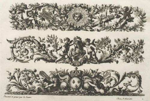 Work by 17th century ornamental engraver Jean Lepautre