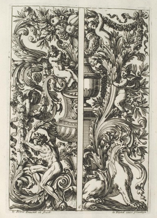 Work by 17th century ornament engraver Jean Lepautre