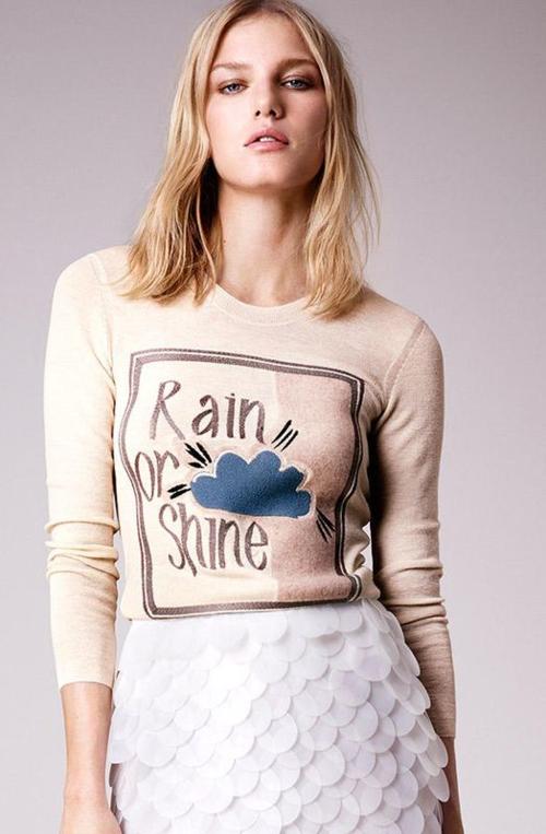 Burberry spring 2015 rain or shine sweater