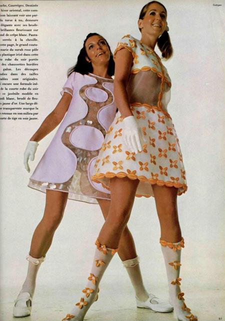 Courrèges dresses, 1967