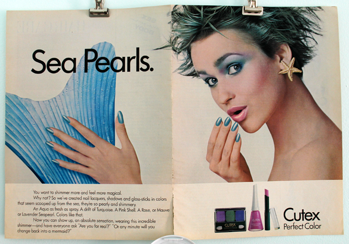 Cutex Sea Pearls ad, 1986