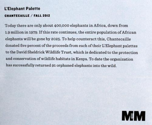 Chantecaille L'Elephant palette label