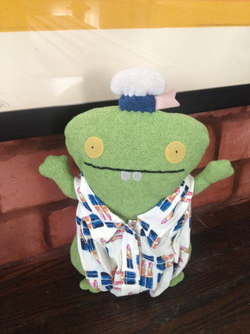 Seasick Sailor Babo modeling