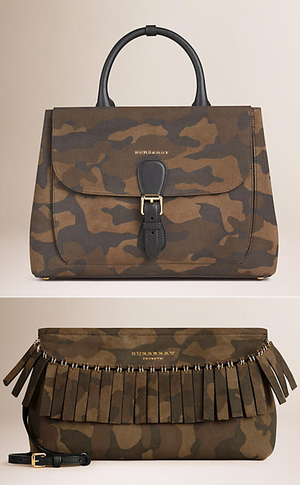 Burberry fall 2015 camo bags