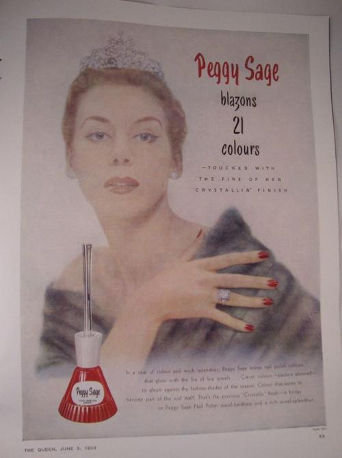 Peggy Sage ad, 1953