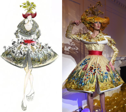 Guo Pei/MAC dress